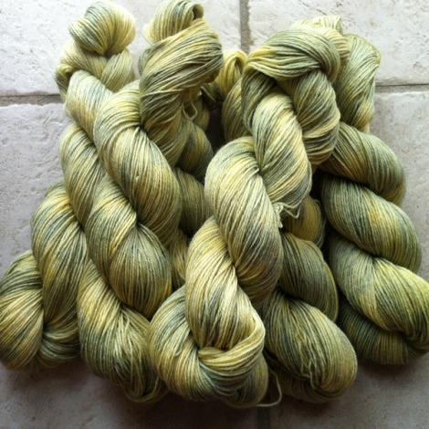 "Colourway ""Straw"" on BFL-Steps"