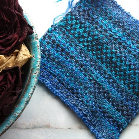 Perlegrus-strikkeprøve