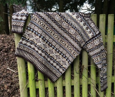 Homecoming. Fair-isle strik i Jamieson & Smith 2Ply Jumper weight